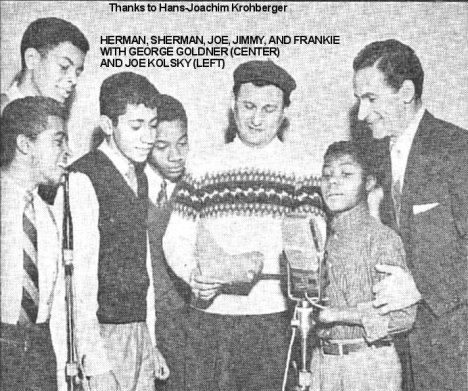 George Goldner with Frankie LYmon and the Teenagers